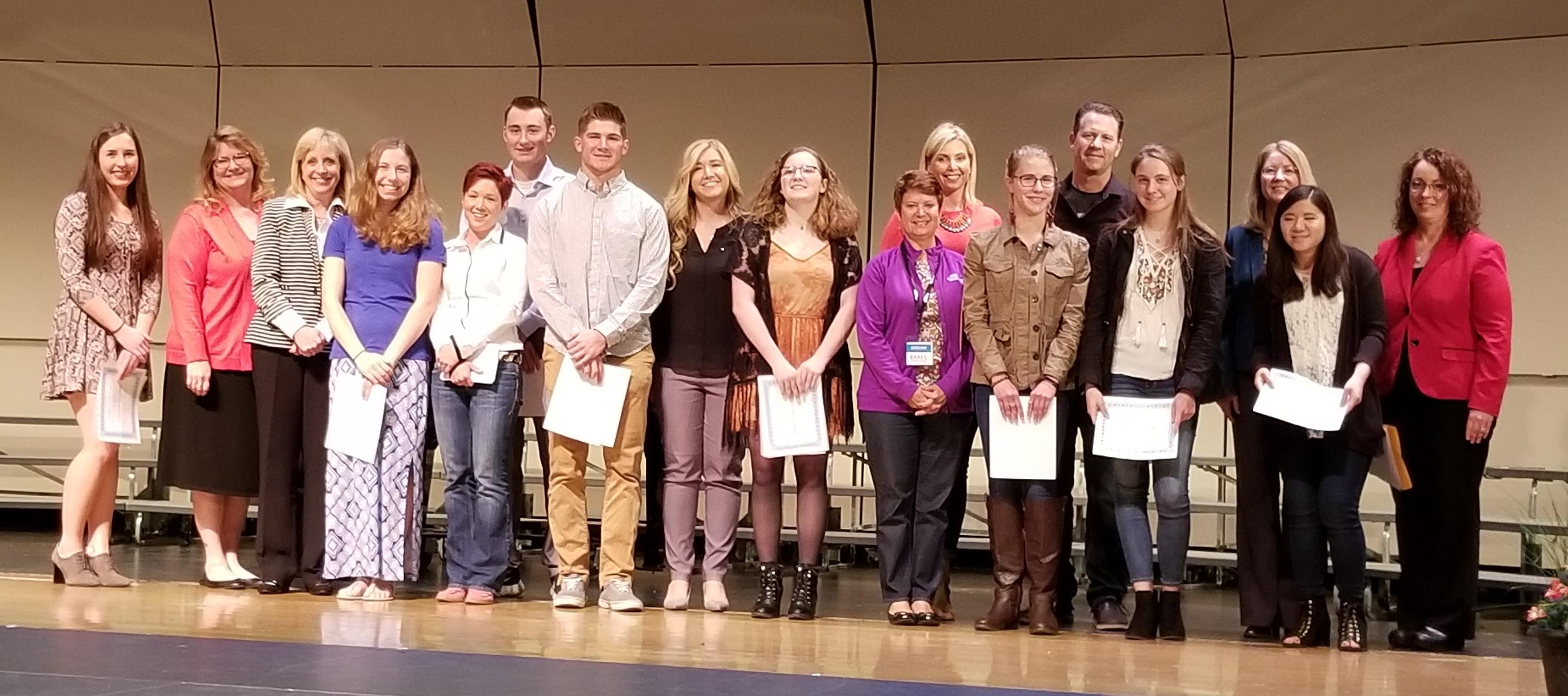 2015 HSBPA scholarship winners
